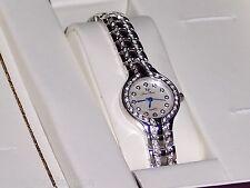 Lucien Piccard Women's Catelli White Crystal Palladium Nickel Plated Watch