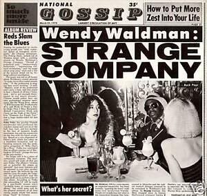 WENDY WALDMAN~STRANGE COMPANY~1978 US 10-TRACK VINYL LP RECORD + LYRIC INNER