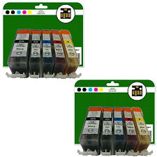 10 Ink Cartridges for Canon MG5150 MG5200 MG5250 MG5320 non-OEM 525-526