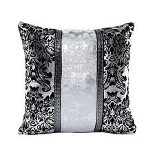 Bling Black Silver Waist Throw Pillow Case Cushion Cover Art Bedroom Sofa Dec