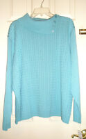 Ladies ALFRED DUNNER Pullover Sweater Turquoise Size 2X Tags Attached