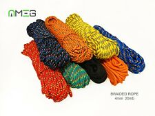 """4mm  Braided Polypropylene Plaited Poly Rope Cord Yacht Boat Sailing """"20 M"""""""