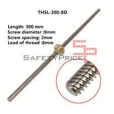 THSL 300-8D Tornillo Tuerca cobre CNC 3D Impresión RepRap Husillo T8 30cm SP