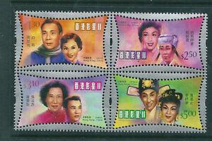 China Hong Kong 2001 Movie stars II stamps BLK