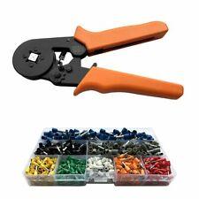 Ferrule Crimper Plier Crimp Tool Kit Cord Wire Strippers 800 Connector Terminal
