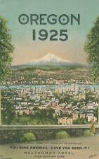 PORTLAND OR – Oregon 1925 Portland showing Mt. Hood Advertising Postcard