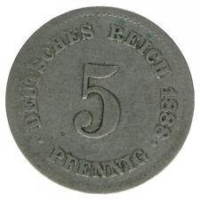 Deutsches Reich 5 Pfennig 1888 J A50254