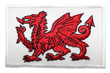 Welsh Wales Red Dragon Embroidered Sew-on Badge Patch Appliqué