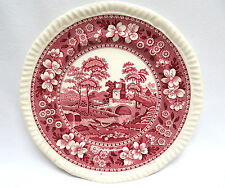 """Spode Tower Pink"" Copeland England Transferware Bread & Butter Plate  Old Mark"