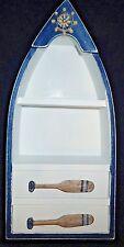 Canoe Shelf Boat Oars Drawers Nautical North Woods Cabin White 8x11x4 inches