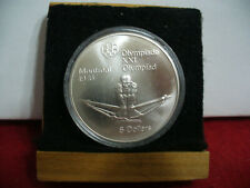 1976   MONTREAL  OLYMPICS  SILVER 5$ COIN   CANADA  ROWING   B.U.  STERLING
