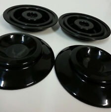 "STEINBACH 4"" black plastic Piano Caster Cups by free shipping to worldwide"
