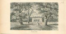 Fontaine de Pline Jardin de Bruxelles Brussel GRAVURE ANTIQUE OLD PRINT 1880