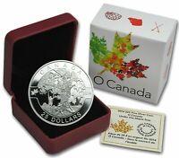 2014 $25 O Canada Series 1 oz Pure Silver Coin *Under The Maple Tree* Box & COA