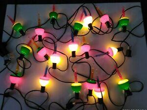 Vintage Noma Christmas Bubble Lights 19 Tested/Works