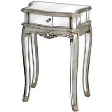 Luxury Console Mirrored Lampentisch Silver Side Table Dresser Night Table