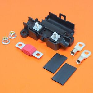 Heavy Duty Midi Car Fuse Holder With 50 Amp Midi Fuse Terminals & Heat Shrink