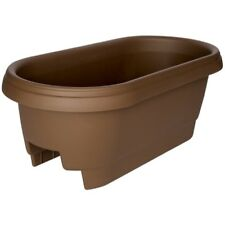 "Bloem Deck Rail Planter, 24"", Chocolate"