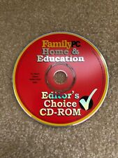 Childrens Family Home and Education Editor's Choice CDROM Windows 95 Compatible