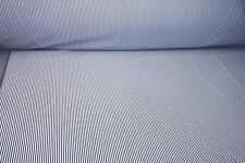 """New, Black/White Stripe cloth fabric material is sold by the yard, is 60"""" wide"""