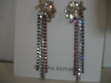 Banana Republic Fireworks Burst Crystal Two Way Earring NWT $48