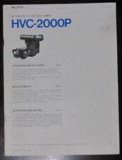 Sony HVC-2000P user operating manual (original copy)