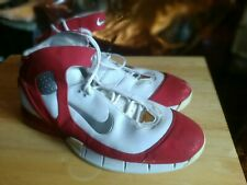 Nike Air Zoom Huarache 2K5   WHITE/RED SUEDE    size 18   *PRE-OWNED*
