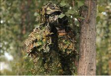 Caza Ghillie 3D CAMO Bionic Leaf camuflaje selva Woodland Birdwatching poncho