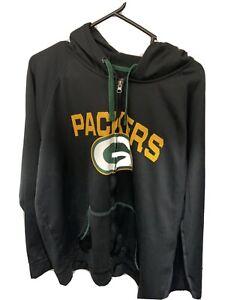 XL Green Bay Packer Zip Up Sweater NFL Team Apparel Brand TXE Warm
