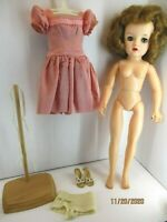 Vintage Ideal Doll  MISS REVLON VT-18 plus dress, underwear shoes and doll stand