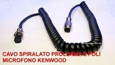 CAVO SPIRALATO PROLUNGA 8 POLI MASCHIO -FEMMINA  MICROFONO KENWOOD MC60 MC90