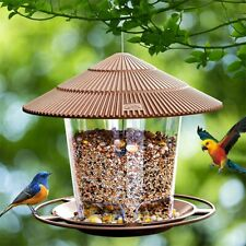 New listing Hanging Wild Bird Feeder Seed Food Clear Viewing Tool Garden Outdoor Decoration