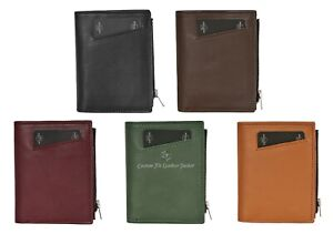 Mens Wallet with Coin Pocket RFID Blocking Leather Wallet Credit Card Coin Pouch