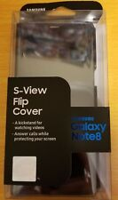 Original Samsung S-View Flip for Samsung Galaxy Note 8  Black Clear Flip Cover