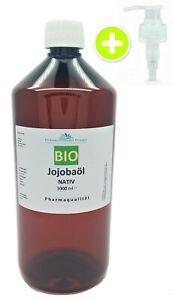 1000 ml Jojobaöl BIO kaltgepresst NATIV gelb Jojoba Öl  1 L (31,99/ L)