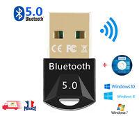 Clé USB Bluetooth V5.0 Mini adaptateur Dongle Sans Fil pour PC Windows EASYIDEA
