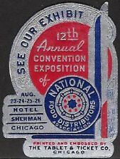 USA Poster stamp: 12th Annual Conven. Expo of National Food Distributors - dw415