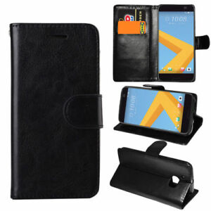 For HTC 10 M10 Premium Leather Flip Wallet Case Stand Cover