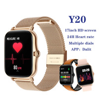 Full Touch Y20 Sport Smart Watch IP68 Heart Rate Fitness Tracker GTS 2 P8 Plus