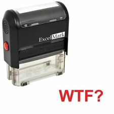 WTF? - ExcelMark Self Inking Novelty Message Stamp A1539 - Red Ink