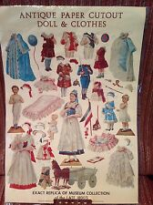 Antique Paper Cutout Doll & Clothes ~ Exact Replica of Museum Collection 1800's
