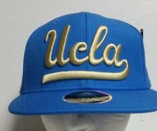 0dcf01020b2 UCLA Bruins Adidas Blue   Gold Wool Structured Fitted Flat Bill Hat Cap (7 1