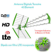 ANTENNA TV DIGITALE TERRESTRE UHF ESTERNA DVB-T HD RADIO TELEVISIONE 45 ELEMENTI