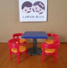 Playmobil City Dollhouse Amenagement Maison Cuisine LOT TABLE + 4 CHAISES PL89