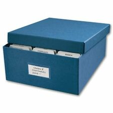 Check Storage Box - Includes 12 dividers and clear outside label, Blue