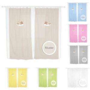 Babyzimmer Kinderzimmer Gardinen Vorhänge mit Schlaufen 5 Farben