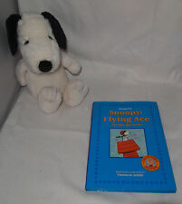 PEANUTS SNOOPY BOOK HARDBACK - FLYING ACE TO THE RESCUE WITH PLUSH SNOOPY DOLL