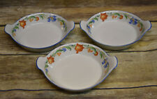"""3 Vintage Arabia Finland Floral Dishes 6.5"""""""