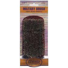 ANNIE soft military 100% pure boar bristle wave hair Brush (2082)