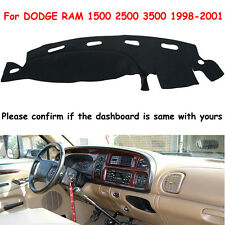 Dashmat For DODGE RAM 1500 2500 3500 1998-2001 Dash Cover Carpet Dashboard Mat